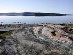 The Nuvvuagittuq supracrustal belt in Quebec, composed of highly metamorphosed basalts and volcanic sediments.  4.3+ billion years in age, this is the oldest known part of the crust in the world, surviving from the Hadean eon.