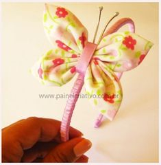 passo a passo tiara enfeite de cabelo borboleta fuxico (3) butterfli headband, tiara