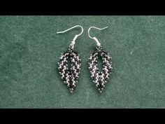 Beading4perfectionists : Russian leaf with delica beads earrings video version beading tutorial  #Seed #Bead #Tutorials