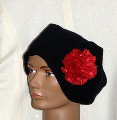 Unisex Felted Navy Blue Hat merino wool by mcleodhandcraftgifts