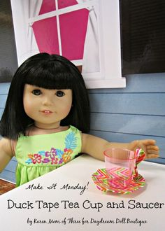 """Dream. Dress. Play.: 18"""" Doll Crafts -- mini teacup and teapot."""