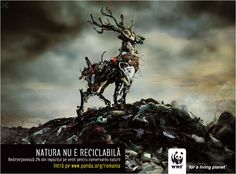 Nature's not recyclable...  WWF  Repin. Even if you do nothing it might inspire someone else.