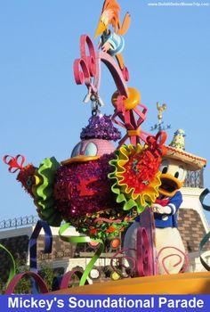 Donald Duck in Mickey's Soundsational Parade at Disneyland.   #DonaldDuck