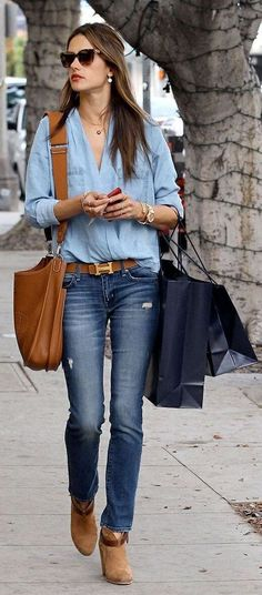 Denim Street Style ~ Summer Into Fall Outfits ~ 60 New Styles - Style Estate -