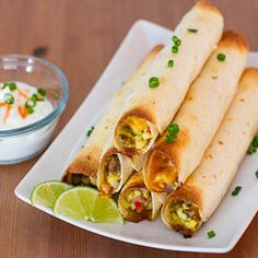 Baked Breakfast Taquitos...filled with yummy breakfast goodness! #breakfast #taquitos