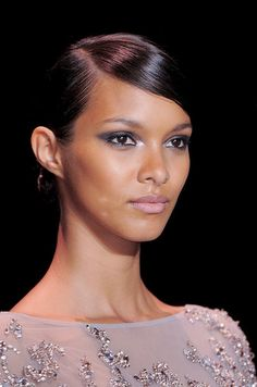 Elie Saab gave retro glamour a moder edge at Paris Couture Fashion Week. Click for more!