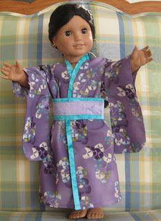 Kimono for Miss P's dolls