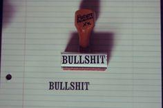 BULLSHIT // Rubber Stamp by thefutureprimitive on Etsy