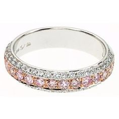 White and pink diamonds eternity ring..LOVE!!!