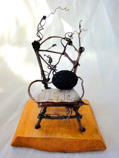 Fairy furniture - the comfy fairy's chair. 59.00, via Etsy.
