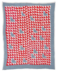 Gee's Bend Quilts love the red, white and denim
