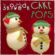 How To Make Snowman Christmas Cake Pops on MyRecipeMagic.com