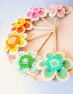 carnival cupcake flowers