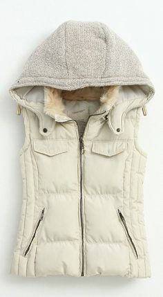Sweater hooded vest. Love!