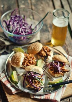 Coffee-Chipotle Pulled Pork Sliders with Cilantro-Jalapeno Slaw!