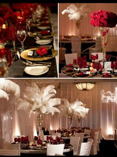 black and gold wedding themes | Red black gold wedding | Wedding Ideas
