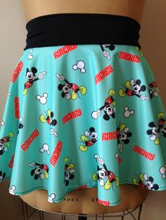 AQUA MICKEY! Super Cool Costume Running Skirt!  Perfect for your next race and upcoming Disney race!