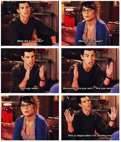 Schmidt is hilarious!