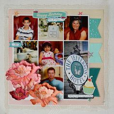 #cre8time to preserve memories! Suzanna made this gorgeous scrapbook page for the #Stampendous #Core'dinations Blog Hop this week!
