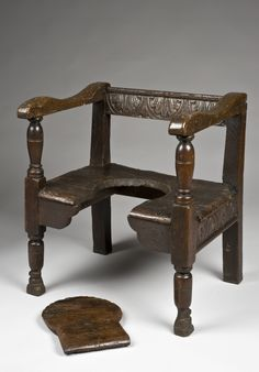 Parturition (birthing) chair, England, 1601-1700