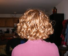 blonde hair 30 Spectacular Curly Bob Hairstyles