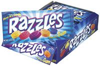 Razzles candy gum by Tootsie is peanut-free.