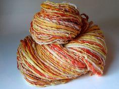 Creamsicle - Handspun Bulky Art Yarn