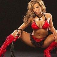 WWE Diva Mickie James in red bra and panties.  More here: http://www.hotpanties.org/bra-panty-models/wwe-diva-mickie-james-in-red-bra-and