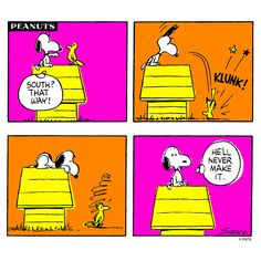 Snoopy gives directions.