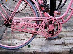 ride, pink bike, hermes, wheel, color