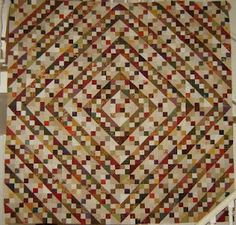 Spiral: BIG Buckeye Beauty! quilt - lovely scrappy quilt
