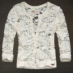 Hollister lace cardigan
