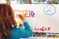Graffiti Wall: great creative activity to support kids coping with grief and other emotions.