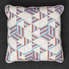 geometric print pillow by David David