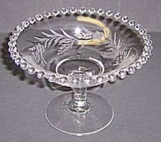 Imperial Crystal CANDLEWICK 3 3/4 Inch ETCHED COMPORT