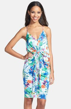 Knot Front Racerback Sundress / Tbags Los Angeles