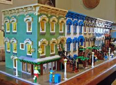 LEGO Victorian row houses. Based on real ones in Albany, NY. Made by William Leue