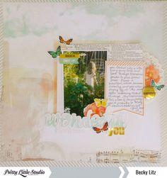 Becky Litz #layout #marigold #prettylittlestudio