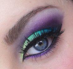 Purple and green eyeshadow #vibrant #smokey #bold #eye #makeup #eyes