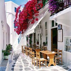 Let's do lunch. Mykonos, Greece. #travel #destination