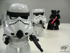 Star Wars Care Bears by me (www.keithcorcoran...). Stormy Bears and Darth Vabear
