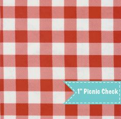 Picnic Check Red Oilcloth