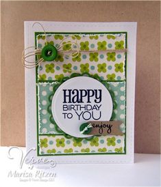 Card by Marisa Ritzen using Birthday To You Plain Jane by Verve Stamps. #vervestamps