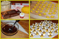 how to make marizpan bees