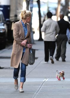 Dog and those shoes.