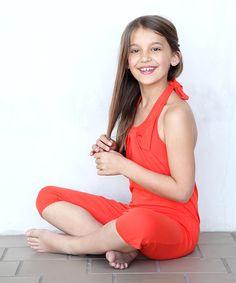 This Orange Bow Halter Playsuit - Toddler & Girls by Buckleberry Kids is perfect! #zulilyfinds