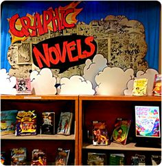 Graphic Novel Display at the Lacey Timberland Library