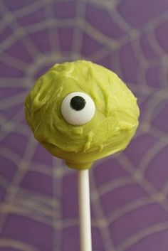 another halloween cake pop  eye sprinkle from Target