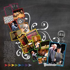 Family Album 2005: Tina's Graduation layout by Tina Shaw | Pixel Scrapper digital scrapbooking
