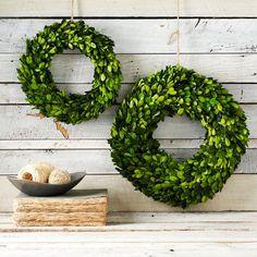 Boxwood Round Wreath | west elm